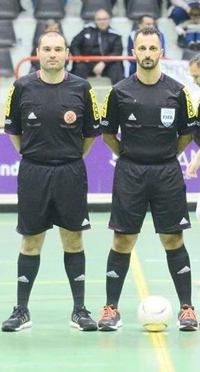Futsal referees JMallia & CMCassar